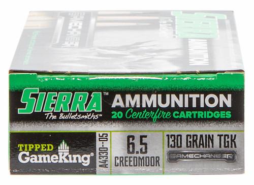 Sierra Gamechanger 6.5 Creedmoor 130GR Hollow Point-BT, 20RD