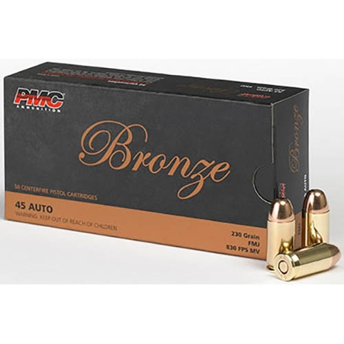 PMC Bronze .45 ACP 230GR FMJ, 50RD