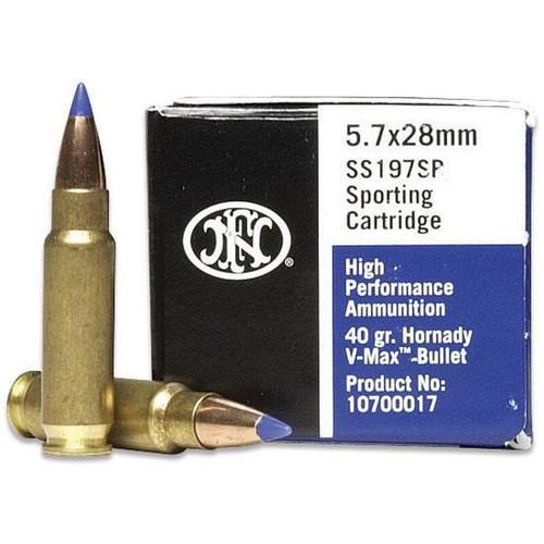 FNH High Performance 5.7x28mm 40GR V-MAX, 50RD