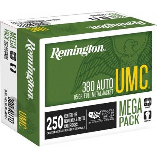 Remington UMC .380 Auto 95GR FMJ, 250RD