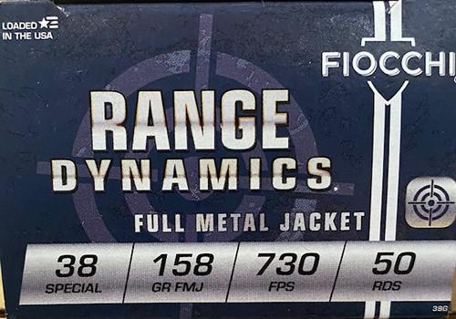 Fiocchi Range Dynamics .38 Special 158GR FMJ, 50RD