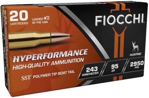 Fiocchi Hyperformance .243 Winchester 95GR SST, 20RD