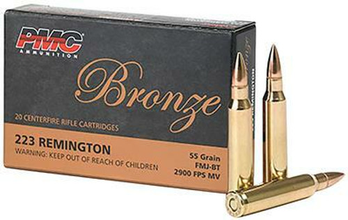 PMC Bronze .223 Remington 55GR FMJ-BT,  20RD