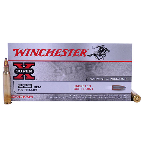 Winchester Super-X .223 Remington 55GR Jacketed Soft Point, 20RD