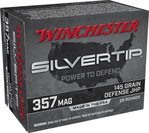 Winchester .357 Magnum 145GR Silvertip JHP, 20RD