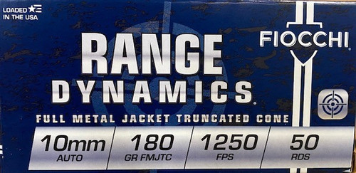 Fiocchi Range Dynamics 10mm 180GR FMJTC, 50RD
