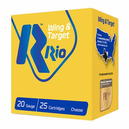 """Rio Wing & Target 20GA 2 3/4"""", 7/8oz. 1250FPS, #8, 25RD"""