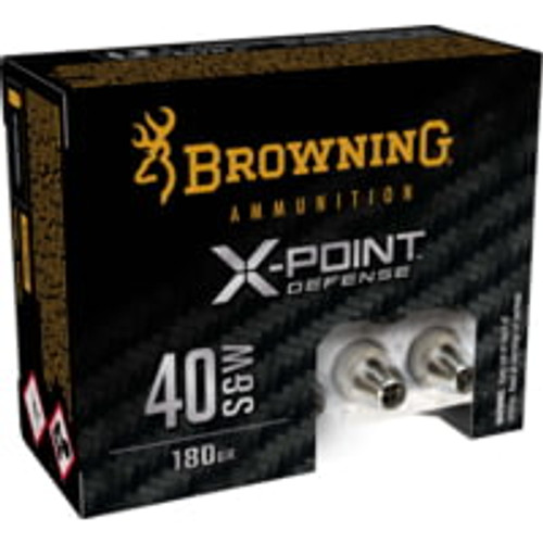 Browning X-Point Defense .40 S&W 180GR X-Point Hollow Point, 20RD