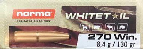 Norma Whitetail .270 Winchester 130GR Soft Point, 20RD