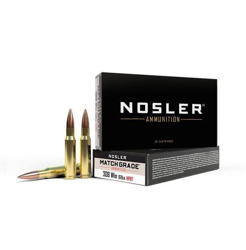 Nosler Match Grade  Custom Competition .308 Win 168GR HPBT, 20RD