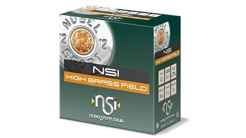 "Nobelsport High Brass Field 12GA 2 3/4"", 1 1/4oz 1330FPS . #7.5, 25RD, 10Box/Case, 250RD/Case"