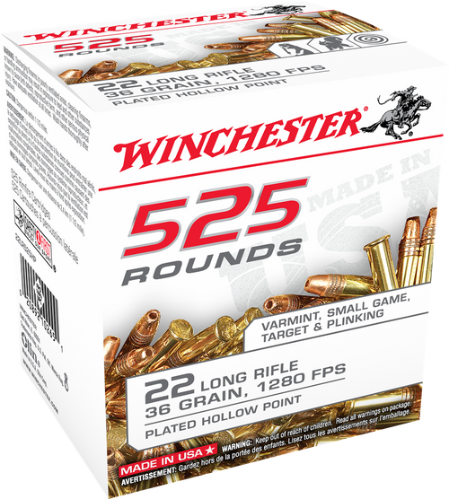 Winchester .22LR 36GR Hollow Point, 525RD