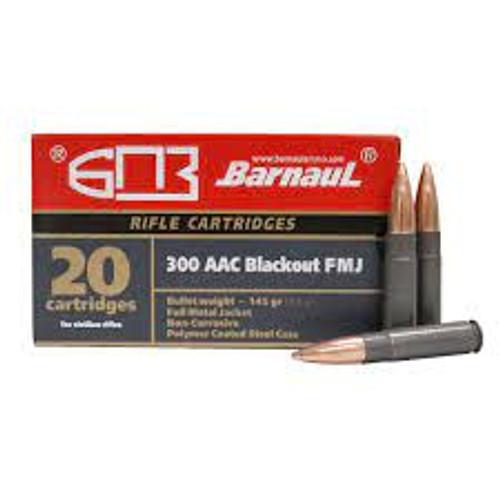 Barnaul .300 AAC Blackout 145 GR FMJ Steel Case, 20RD