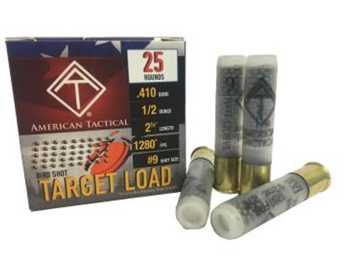 "American Tactical Target Load .410GA 2 1/2"", 1/2oz. #9, 25RD"