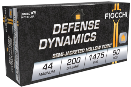 Fiocchi Defense Dynamics .44 Magnum  200GR Semi-Jacketed Hollow Point (SJHP), 50RD
