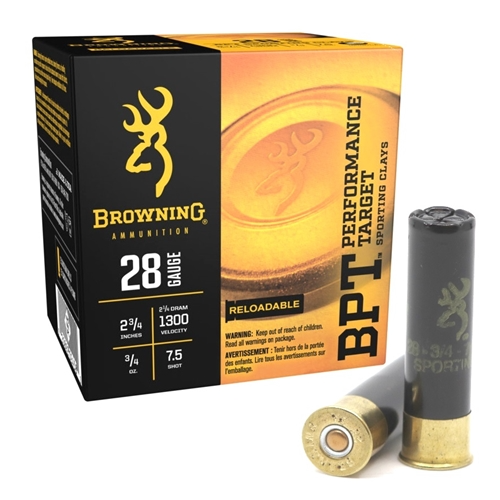 "Browning / Winchester Performance Target BPT 28GA 2 3/4"", 1300FPS, 3/4oz. #7.5, 25RD"