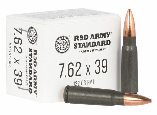 Red Army 7.62x39 122gr FMJ ,Steel Case ,20 RD Per Box
