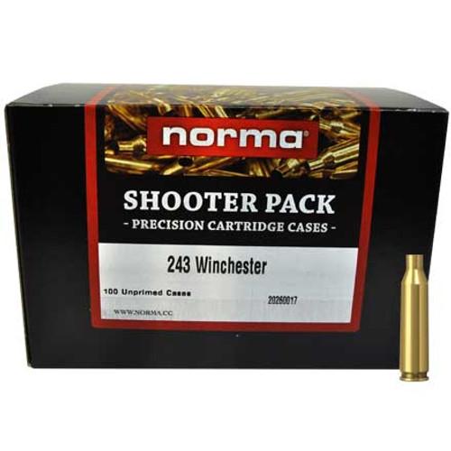 Norma .243 Unprimed Brass Shooter Pack 100 Pack