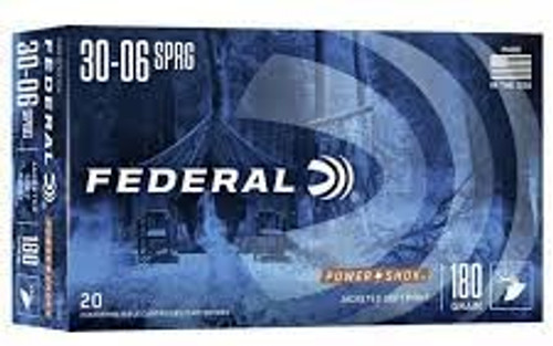 Federal 30-06 PowerShok180GR 20RD Per Box