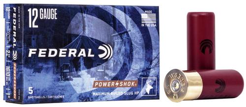"""Federal 12GA Powershok Rifle Slug  2 3/4"""" 1610FPS, 1oz 5RD Per Box"""