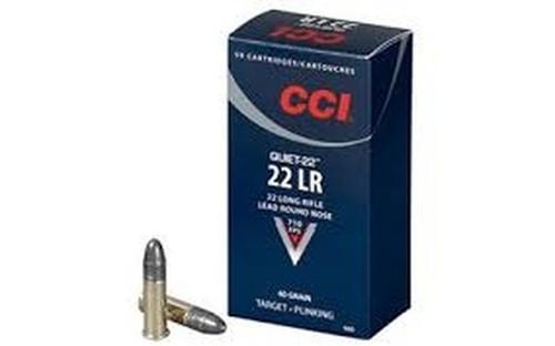 CCI 22LR Quiet-22 Lead Round Nose 40GR 50RD Per Box