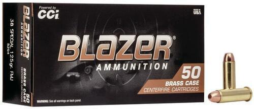CCI Blazer Brass 38 Special 125 GR FMJ 50 RD Per Box