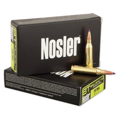 Nosler Ballistic Tip Rifle  .243 Win 90 GR 20 RD Per Box