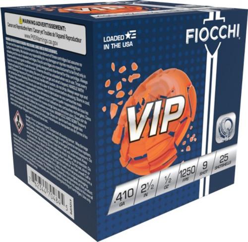 Fiocchi 410GA 2 1/2, 1/2 oz 1250fps #9 25 RD Per Box