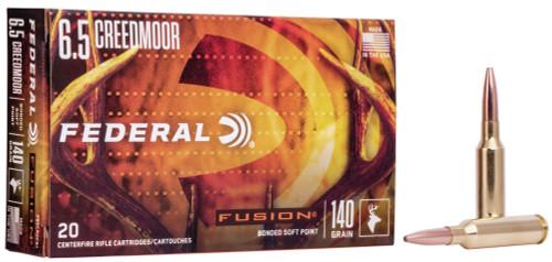 Federal Fusion 6.5 Creedmoor Bonded Soft Point 140GR 20RD Per Box