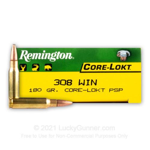 Remington R308W3 Core-Lokt 308 Win 180GR PSP 20RD Per Box