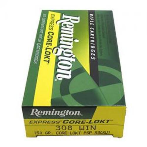 Remington R308W1 Core-Lokt 308 PSP 150GR 20RD Per Box