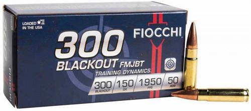 Fiocchi 300Blackout FMJBT 150GR 50RD Per Box