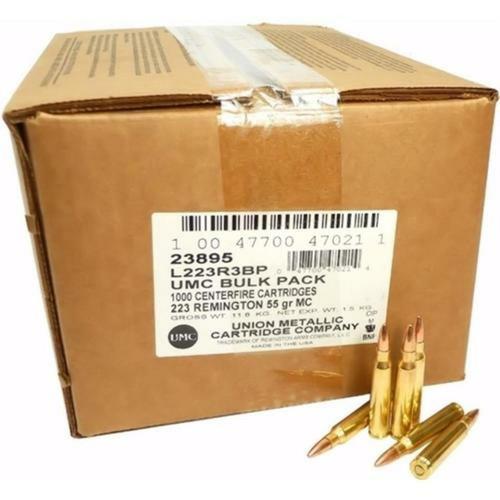 Remington UMC L223R3BP 223 Rem 55 GR FMJ 1000RD Per Box