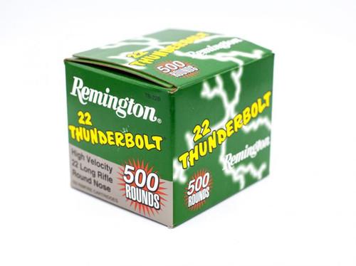 Remington 22 TB-22B Thunderbolt High Velocity Round Nose ,40GR 500RD Per Box