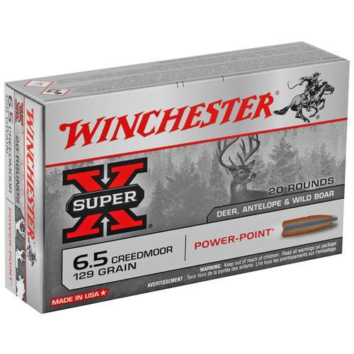 Winchester 6.5 Creedmoor Power Point 129GR 20RD Per Box