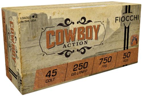 Fiocchi Cowboy Action 45 Colt LRNFP 250GR 750FPS 50 RD Per Box