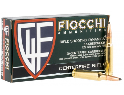 Fiocchi 6.5 Creedmoor 120GR Interlock FB 20RD Per Box