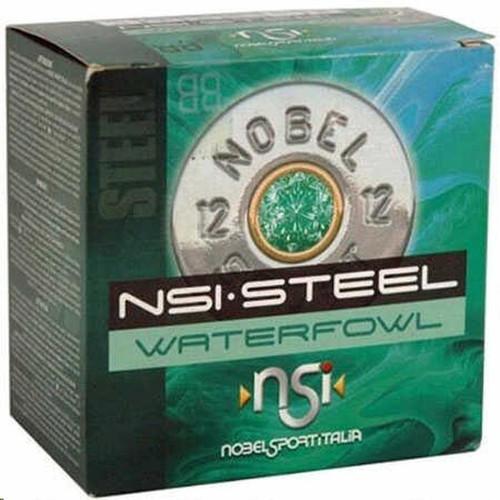 "Nobel Sport 12GA Steel Waterfowl 3"" ,1 1/4oz ,#3, 1450FPS 25RD Per Box"