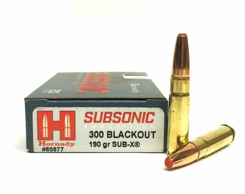 Hornady Subsonic 300 Blackout 190GR SUB-X 20RD Per Box