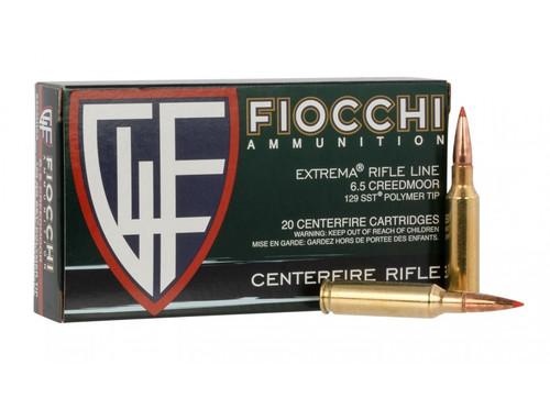Fiocchi 6.5 Creedmoor 129GR SST Polymer Tip 20RD Per Box