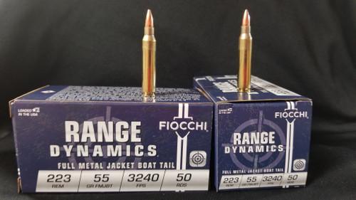 Fiocchi 223REM  FMJBT 55GR 3240FPS 50RD Per Box