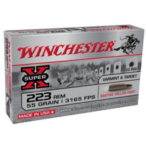 Winchester SX 223REM 55GR 3165FPS BTHP 20RD Per Box