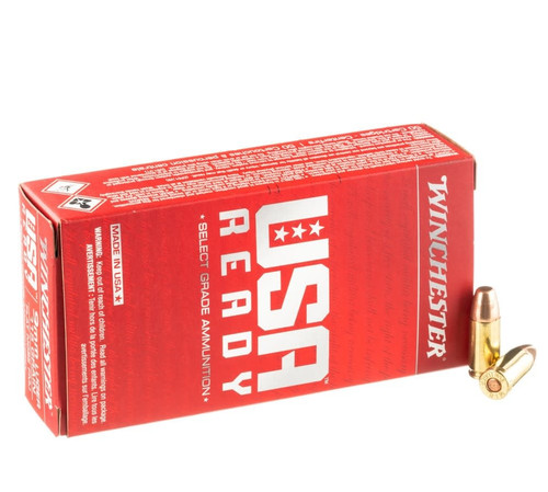 Winchester USA Ready 9mm 115GR Flat Nose FMJ