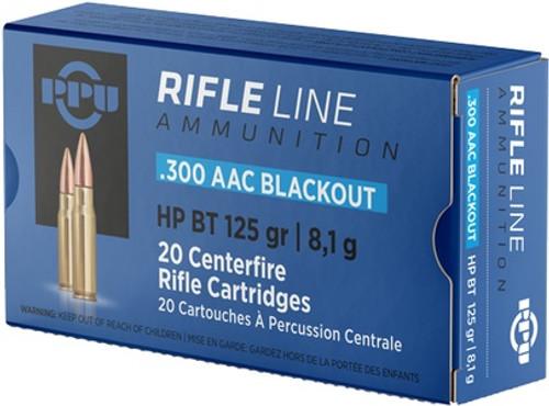 PPU Rifle Line 300 ACC Blackout HP BT 125GR 20RD Per Box
