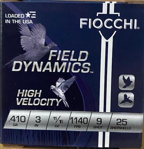 "Fiocchi  High Velocity .410GA 3"", 11/16oz 1140FPS, #9 25RD Per Box"