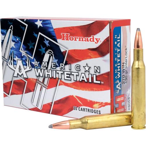 Hornady American Whitetail 270 Win 130GR, Interlock 20RD Per Box