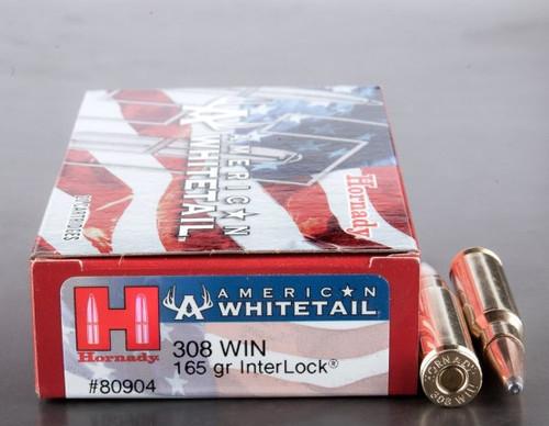 Hornady American Whitetail 308 Win 165GR Inter Lock 20RD Per Box