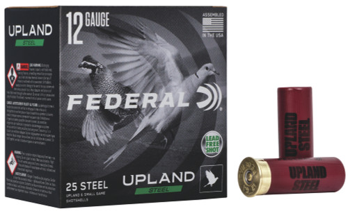 Federal Upland High Performance Steel 12GA 2 3/4, 1375FPS ,1oz, #6 25RD Per Box