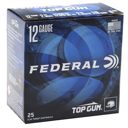 """Federal Top Gun Extra Light 12GA 2 3/4"""", 1200FPS, 7/8oz ,#8 25 RD Per Box"""