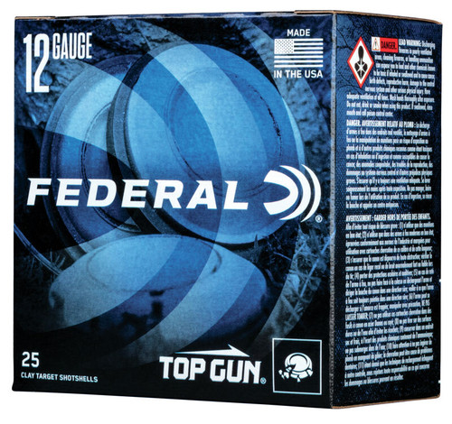 "Federal Top Gun Lite 12GA 2 34"", 1145FPS, 1 1/8oz, #7.5 25RD Per Box"